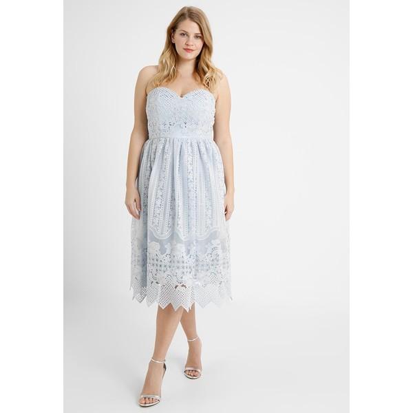 d6aa66bd9ba7 Chi Chi London Curvy ASTER Sukienka koktajlowa blue CV721C03T ...