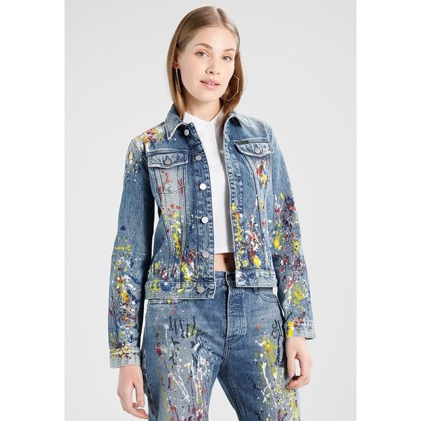 3c2e1f752e715 Calvin Klein Jeans CLEAN LINE TRUCKER Kurtka jeansowa sterling blue  C1821G01I