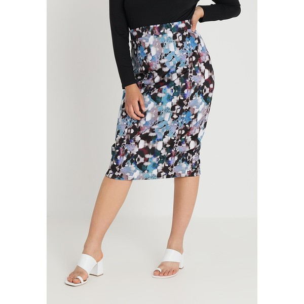 3d3778aaa851bc Lost Ink Plus PENCIL SKIRT IN ABSTRACT Spódnica ołówkowa multicoloured  LOA21B00X