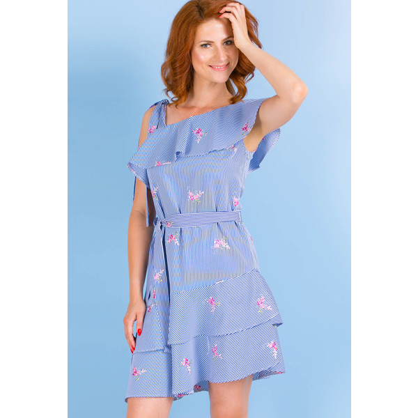 7ab593acc1 Monnari Prążkowana sukienka na lato SUKPOL0-18L-DRE3670-KM13D800-R36 ...