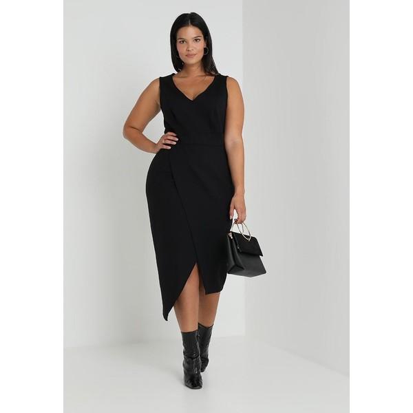 Ashley Graham x Marina Rinaldi OCEANINO PONTE DRESS Długa sukienka nero  ASD21C002 - UbierzmySie.pl 66adb637c26