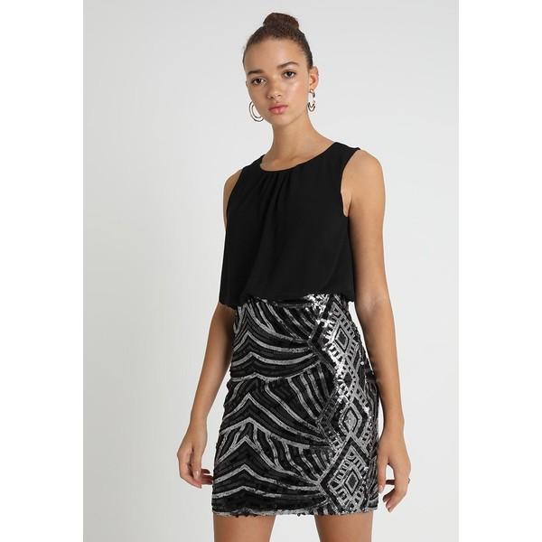 803684dc4c Vero Moda VMELENORA DRESS Sukienka koktajlowa black VE121C1FA ...