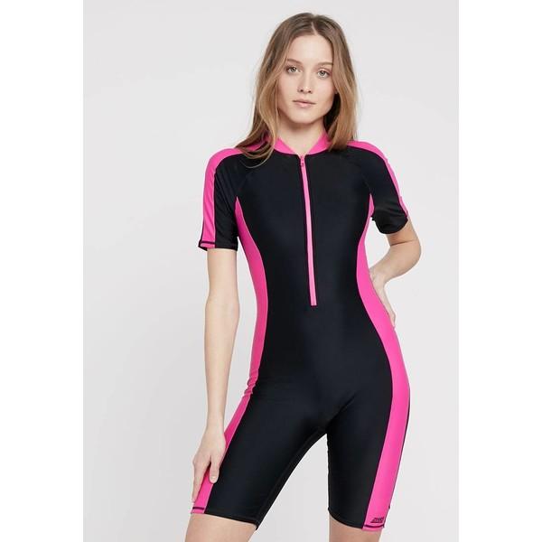 Zoggs BEGA KNEESUIT Kostium kąpielowy black/pink ZG181G01O