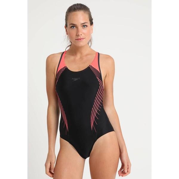 Speedo FIT Kostium kąpielowy black/red 1SP81G02J