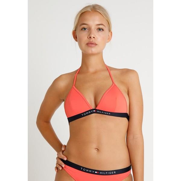 Tommy Hilfiger TRIANGLE FIXED Góra od bikini red TO181J005