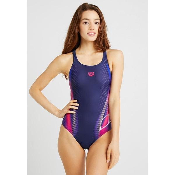 Arena BRIZA SWIM PRO ONE PIECE SWIMSUIT Kostium kąpielowy navy/shiny pink A1581G01K