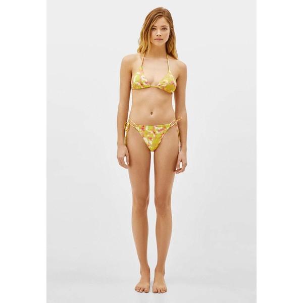 Bershka TIE DYE PRINT Dół od bikini yellow BEJ81A000