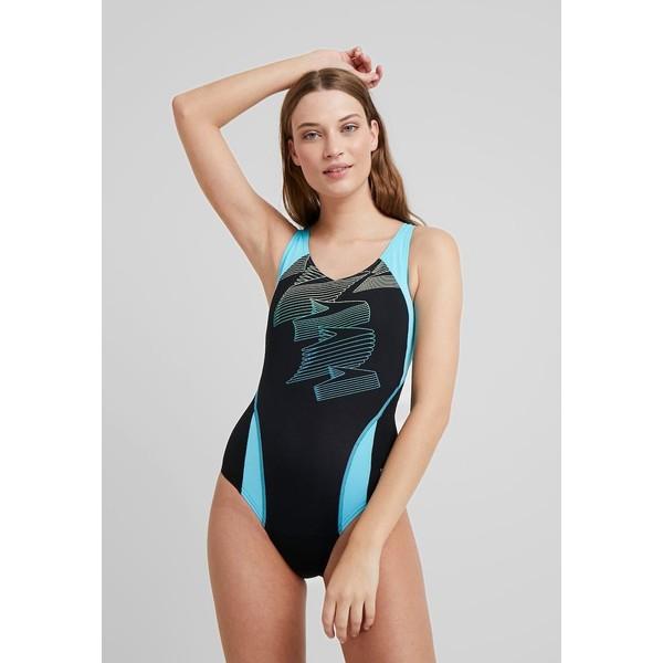 Speedo BOOM Kostium kąpielowy black/aqua splash/bright zest 1SP81G02M